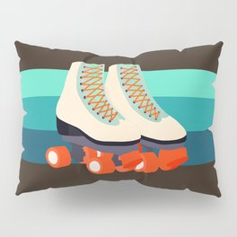 Retro Roller Skates Pillow Sham