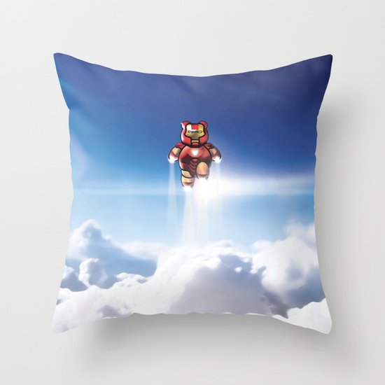 Super Bears - ACTION! the Invincible One Throw Pillow