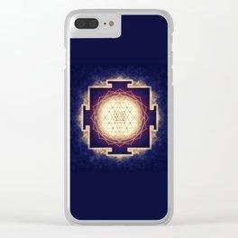 Sri Yantra IX Clear iPhone Case