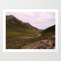 alaska Art Prints featuring ALASKA by Jennifer Spradling