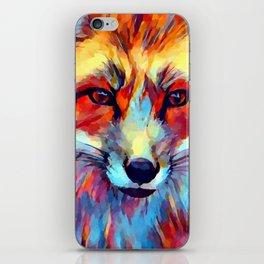 Fox Watercolor 2 iPhone Skin