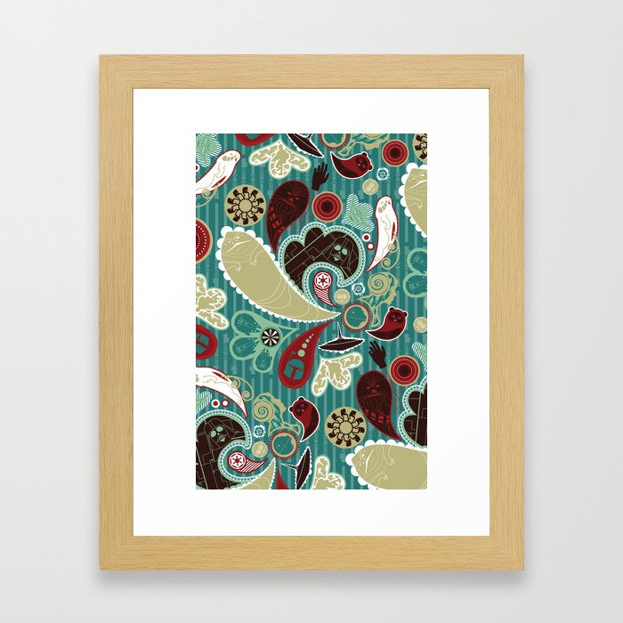 A Long Time Ago In A Paisley Far Far Away Framed Art Print