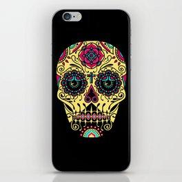 Deco Sugar Skull 3 iPhone Skin