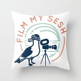 Film My Sesh Throw Pillow