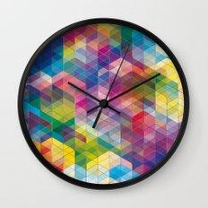 Cuben Curved #7 Wall Clock