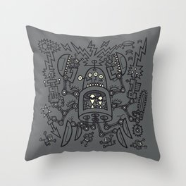 Evil Crabkillbot from Crab Nebula Against Humanity Throw Pillow