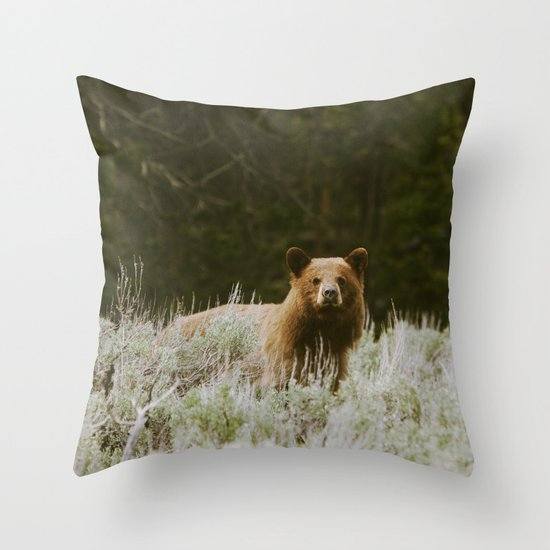 Bush Bear Throw Pillow