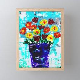 Fanciful Blooms Framed Mini Art Print