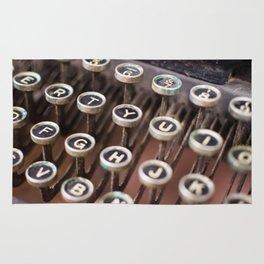 Antique typewriter keys Rug