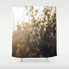 late night conversations with the moon Shower Curtain