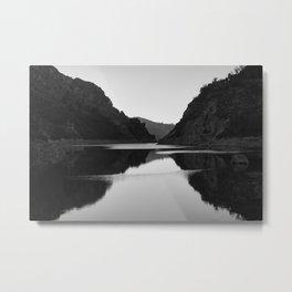 Lake mountain. At sunset. BW Metal Print