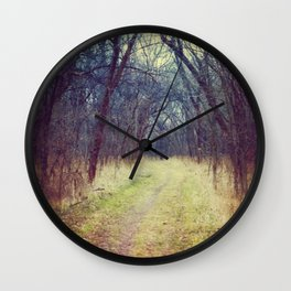 The Woods Are Lovely, Dark and Deep...  Wall Clock