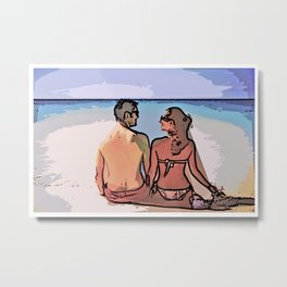 The Beach - Moments of our Love Story Metal Print