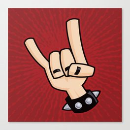 Heavy Metal Devil Horns Hand Sign Canvas Print