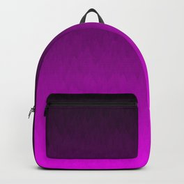 Black Purple Ombre Flames Backpack