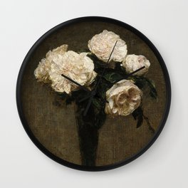 Roses in a Vase Wall Clock