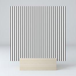 Black Pinstripe On White Pattern Mini Art Print
