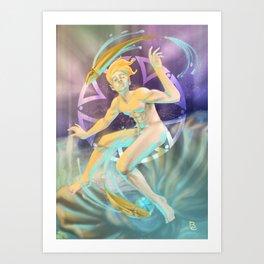 Pisces - Zodiac King Art Print