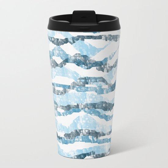 Abstract 158 Metal Travel Mug