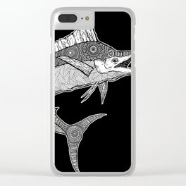 MARLIN CHASE Clear iPhone Case