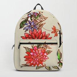 city of flowers . artwork Backpack