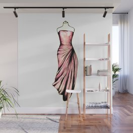 Pink Gown Wall Mural