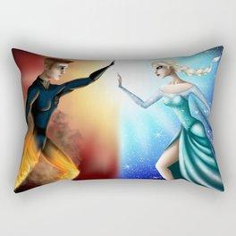 Frozen Flames Rectangular Pillow