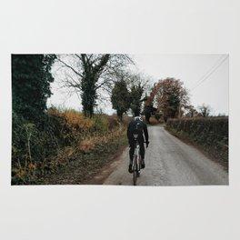 Winter road cycling Rug