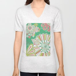 Vector pattern with flowers Unisex V-Neck
