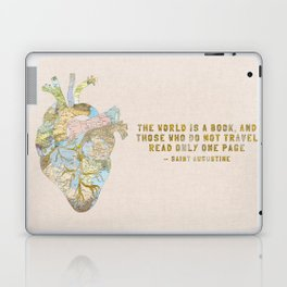 A Traveler's Heart + Quote Laptop & iPad Skin