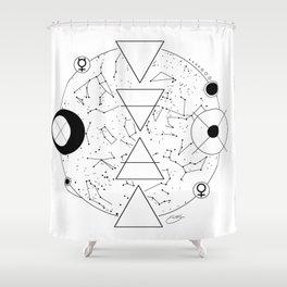 Celestial Alchemical Earth Shower Curtain