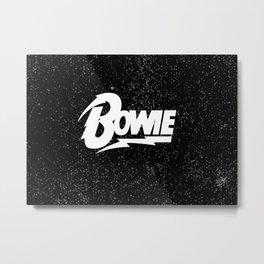 Lightning Bolt Bowie Metal Print