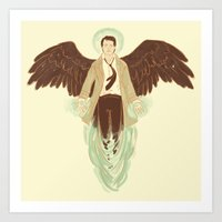 castiel Art Prints featuring Castiel by Armellin