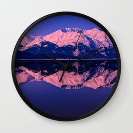 Rose Alpenglow Wall Clock