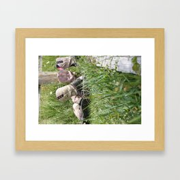 Girls and Their Boots Framed Art Print