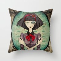 dragonfly Throw Pillows featuring Dragonfly by Beñat Olea