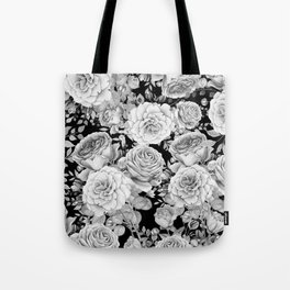 ROSES ON DARK BACKGROUND Tote Bag