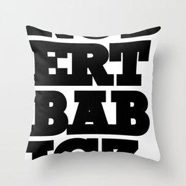 Robert Babicz logo Throw Pillow