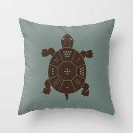 Lo Shu Turtle Throw Pillow
