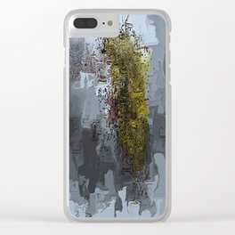 Cracked Delusions Clear iPhone Case