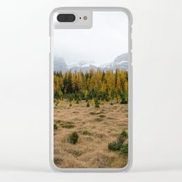 Winter's Descent Clear iPhone Case