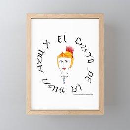 El Cristo de la trusa azul Framed Mini Art Print