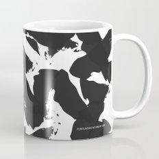 Black Bird Wings on White Mug