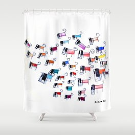 And Your Little Doggies Too Shower Curtain