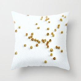 Gold beads Throw Pillow