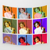 popart Wall Tapestries featuring Popart Leia from Star Wars Episode 4 by DavyR