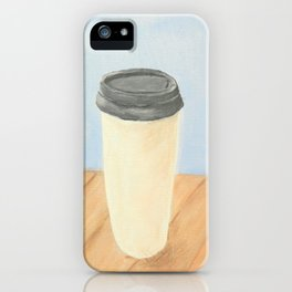 Coffee (Blue) iPhone Case