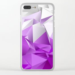 Abstract Low-Poly background. triangulated texture. Design 3d. Polygonal geometrical pattern. Triang Clear iPhone Case