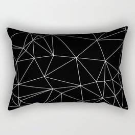 Geometric Black and White Minimalist Pattern Rectangular Pillow