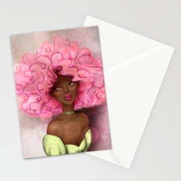 ROSE AFRO LADY Stationery Cards